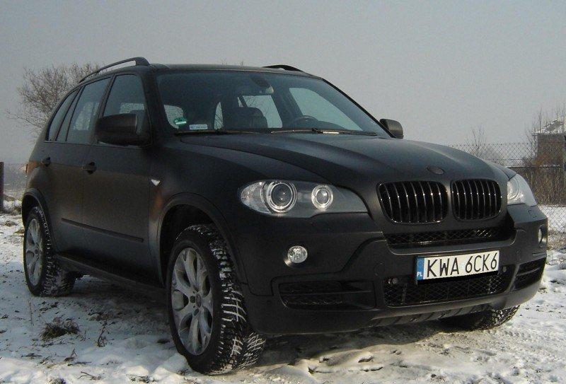 Oklejanie Aut BMW Folią 3M Czarny Mat