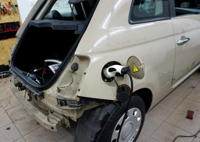 Fiat 500 Folia White Satin Autostylizacja