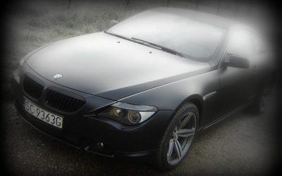 Oklejanie folią samochodu BMW 6