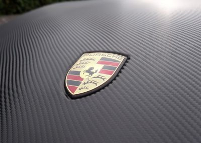 Oklejanie Maski, Lusterek i Spojlera w Porsche Cayenne