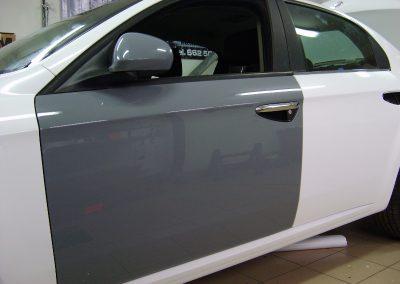 Alfa Romeo Czarny i Biały Połysk