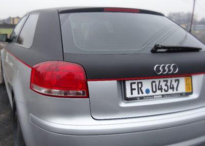 Audi A3 Folia Czarny Mat