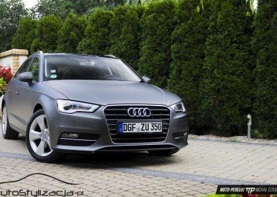 Audi A3 Oklejone Folią Szary Mat
