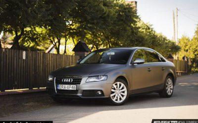 Oklejanie Folią Lakieru w Audi A4 na Kolor Matowy Ciemnoszary