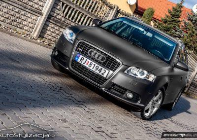 Oklejanie Folią Audi A4 na Szary Mat Metalic