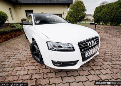 Foliowanie Karoserii w Audi A5 na Kolor Satynowy Biały