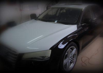 Audi A8 Folia Biały Połysk