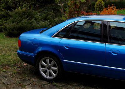 Audi A8 Folia Niebieski Metalik