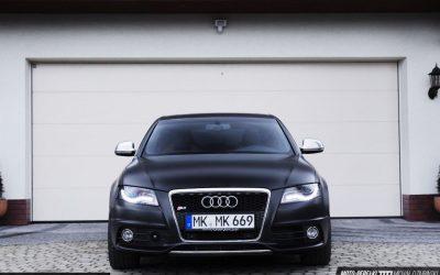 Oklejanie Pojazdu Audi S4 Folia Satin Black
