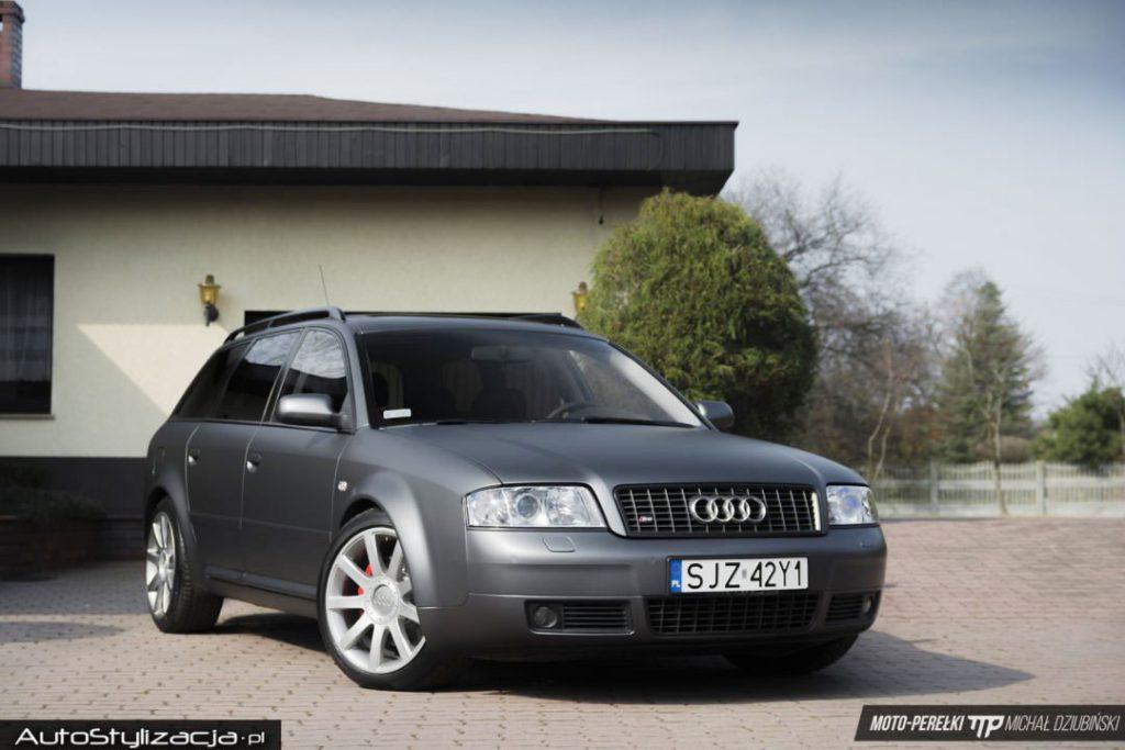 Oklejanie Audi Szary Mat Metalik