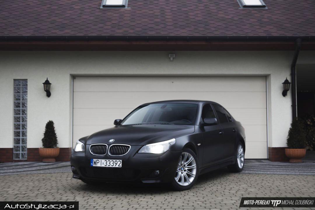 BMW E60 Folia Czarny Satynowy