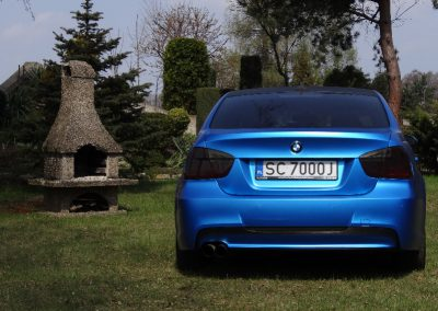 BMW E90 Blue Matt Metalic