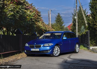 BMW F11 Folia Niebieski Mat Metalik