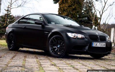 Zmiana koloru BMW M3 na Satynowy Czarny