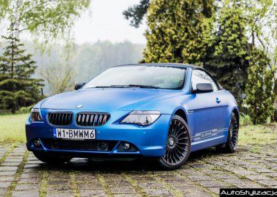 Oklejanie Lakieru w BMW M6 Alpina na Niebieski Mat