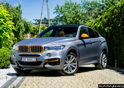 BMW X6 Folia Carbon Antracyt