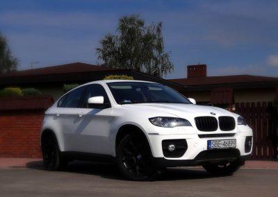 BMW X6 Oklejone Folą Biały Połysk