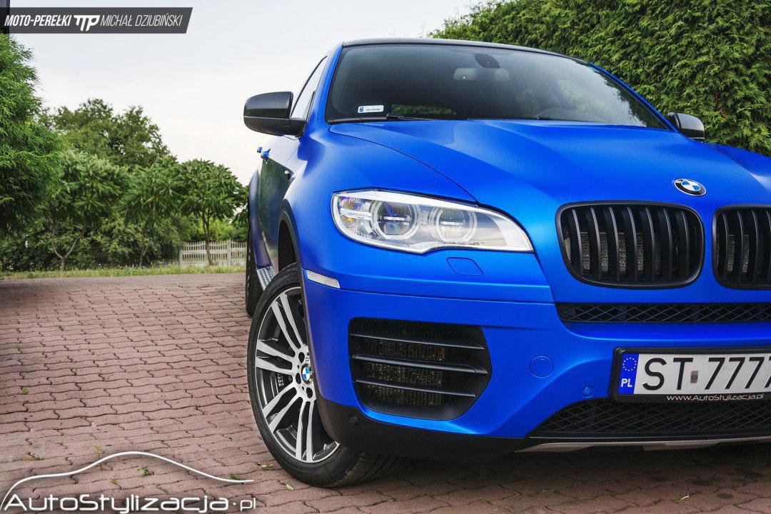 Foliowanie BMW X6 Satynowy Niebieski