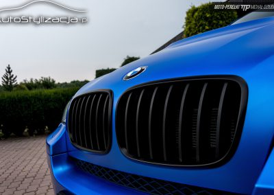 BMW X6 Folia Satynowy Niebieski