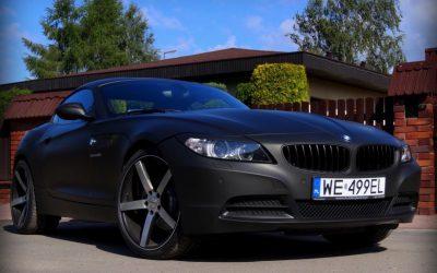 Foliowanie Auta BMW Z4 na Czarny Mat