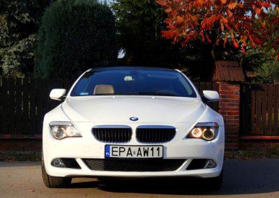 Oklejanie Karoserii Auta w BMW 6 E63 na Kolor Biały Połysk