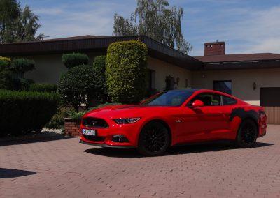 Ford Mustang Folia Czarny Mat