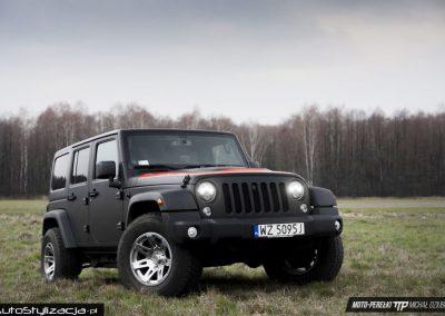 Oklejanie Auta Jeep Wrangler Rubicon Folią Czarny Mat