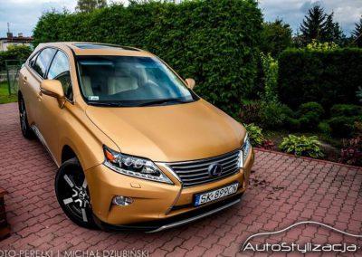 Oklejanie Lexusa RX450H Folią Szczotkowane Złoto