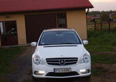 Mercedes R Folia Biały Połysk