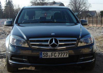 Mercedes C Folia Czarny Mat