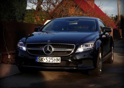 Mercedes CLS Folia Czarny Metalik