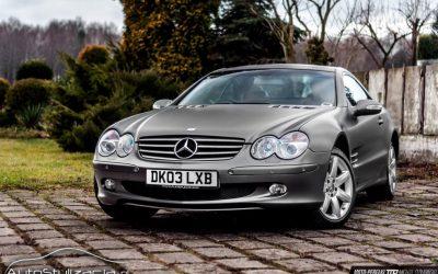 Foliowanie Mercedesa SL na Szary Mat Metalik