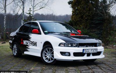 Oklejanie Elementów Auta Mitsubishi Galant Kolorową Folią