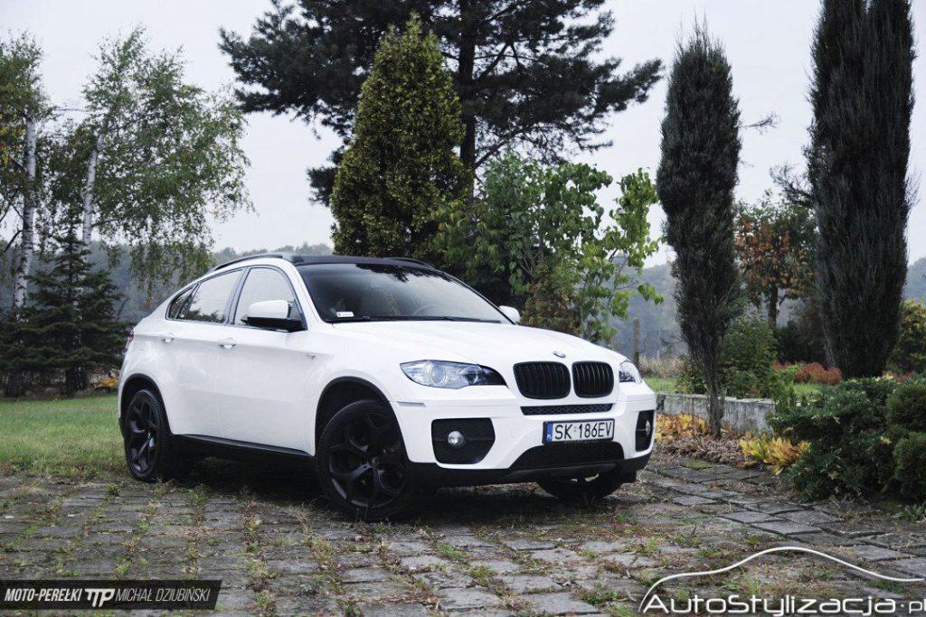 Oklejanie BMW X6 Folią Biały Połysk