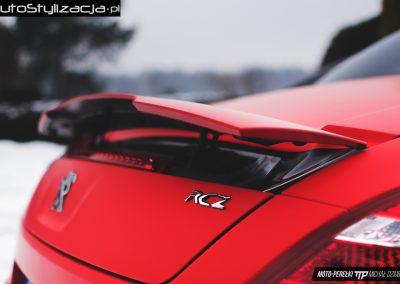 Peugeot RCZ Folia Czerwony Mat