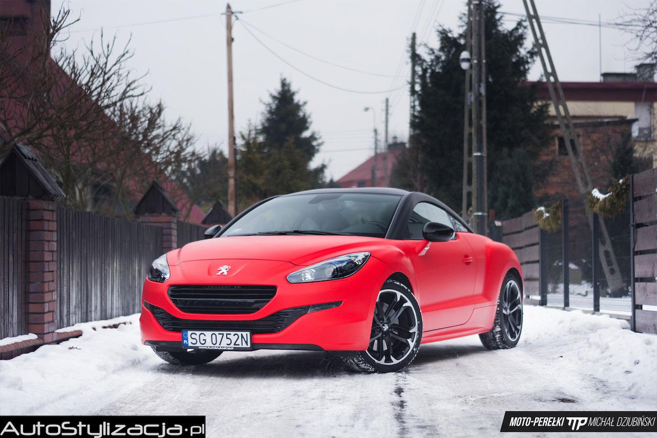 Oklejanie Peugeot RCZ Folią Czerwony Mat