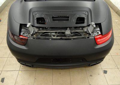 Porsche 911 Folia Czarny Mat