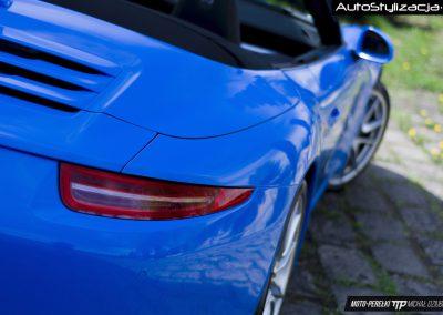 Posrche 911 Cabrio Folia Niebieski Połysk