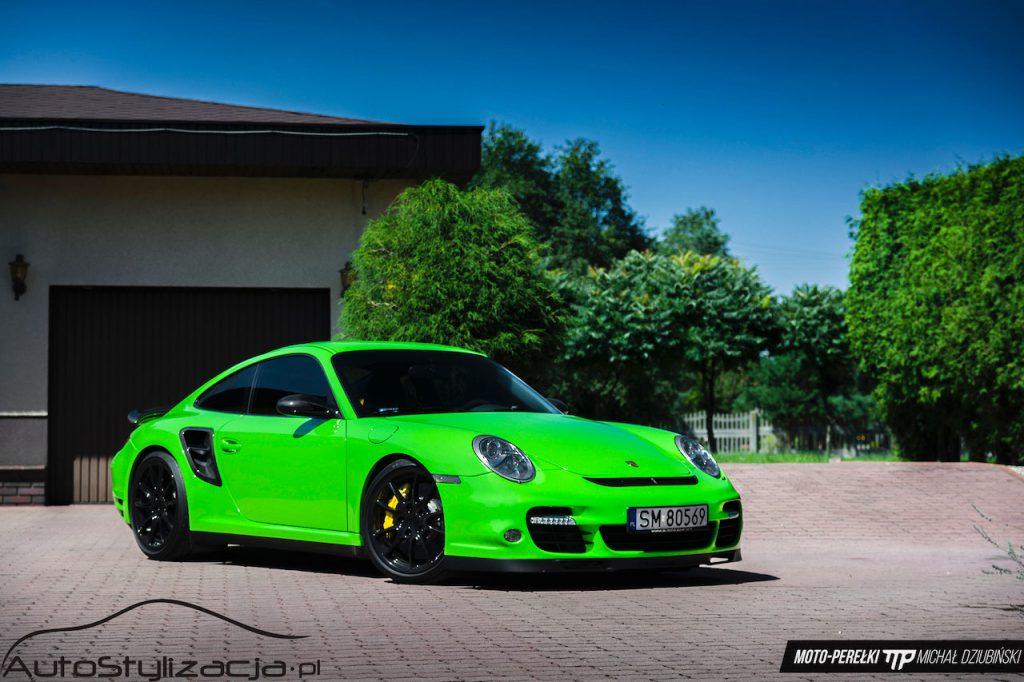 Oklejanie Auta Porsche Kolor Zielony