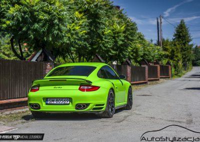 Porsche 911 Turbo Folia Grass Green