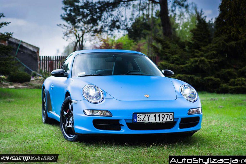 Oklejanie Samochodu Porsche 911 Folią