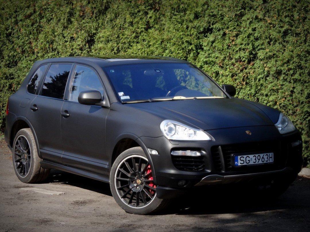Folia Czarny Mat do Samochodu Porsche