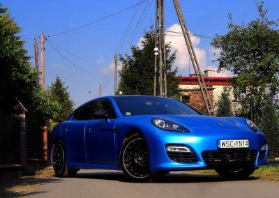 Porsche Panamera Folia Niebieski Satynowy