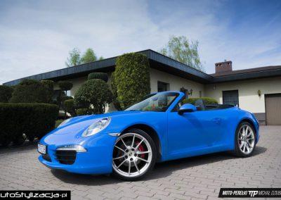 Oklejanie Folią Całego Samochodu Porsche 911 Cabrio
