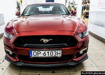 Stylizacja Ford Mustang Pasy Czarny Mat