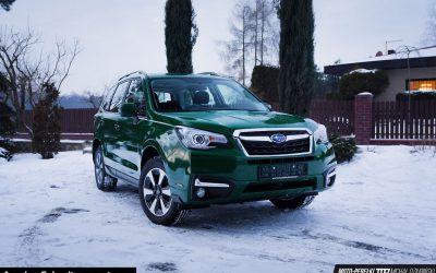 Oklejanie Lakieru Auta Subaru Forester Folią Zielony Połysk