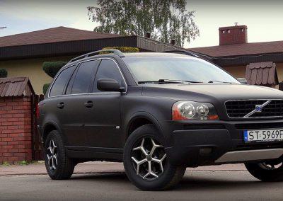 Volvo XC90 Oklejone Folią Czarny Mat