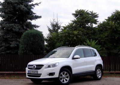 VW Tiguan Folia Biały Połysk