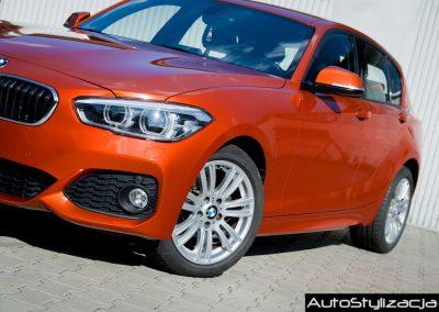 Oklejanie Nadwozia Auta BMW 1 Pomarańczową Folią od 3M