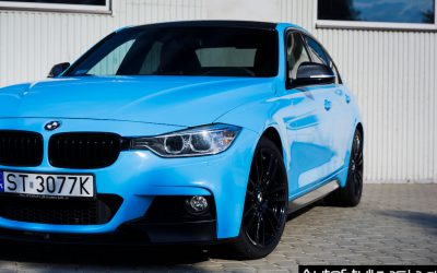 Oklejanie Folią Całego Auta i Dodatków w BMW 3 F30 Sedan